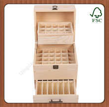 Factory made 3-tire Wooden essential oil box for sale