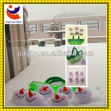 2013 factory new design pure handmade lovely snowball christmas craft
