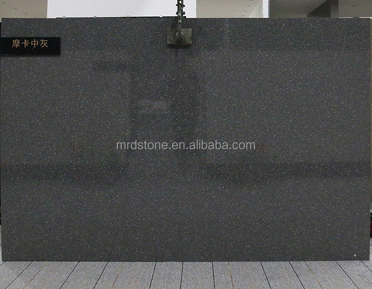 Factory Direct Solid Surface Sparkle Deep Grey Big Size Artificial Marble