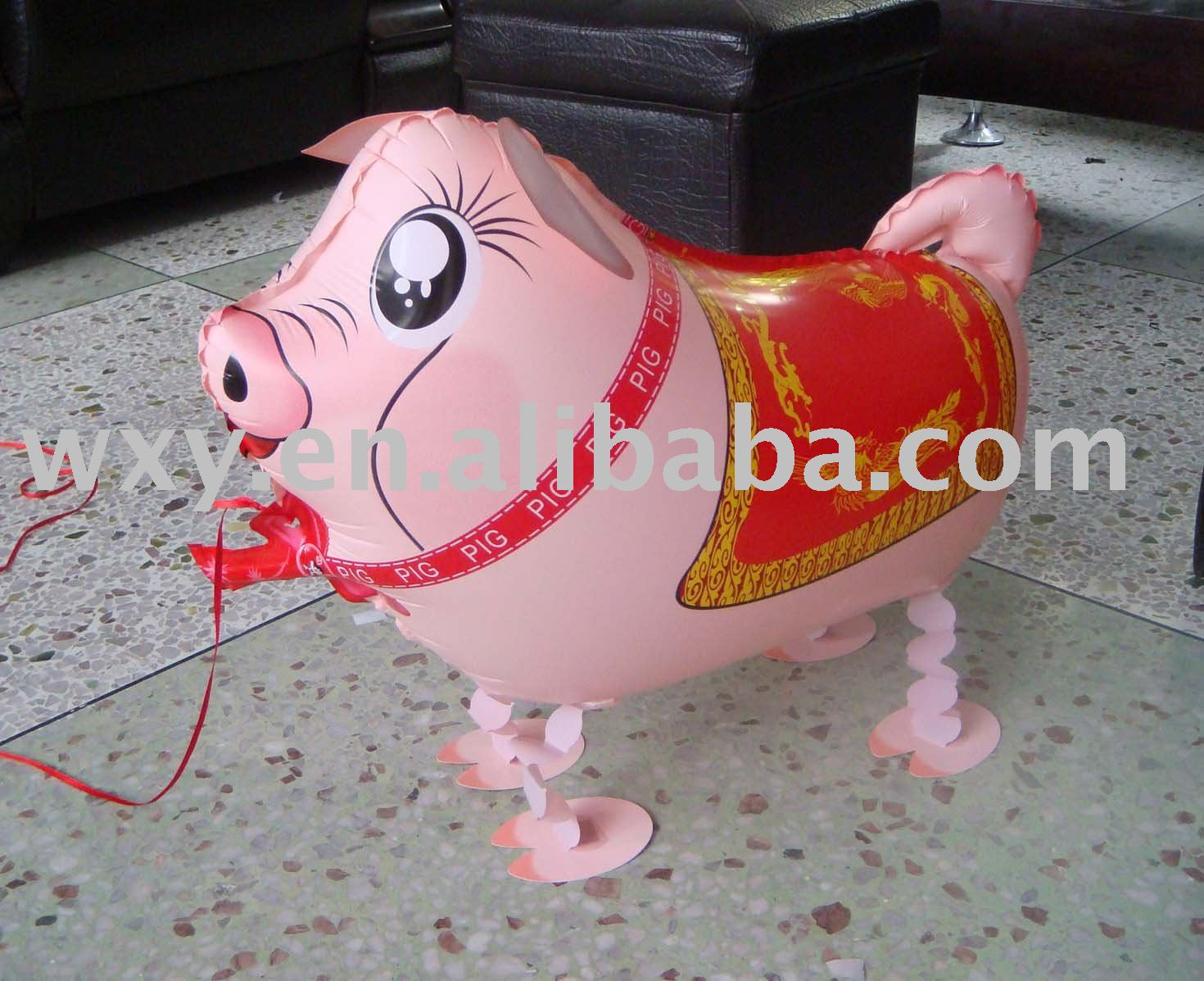 Walking Pig helium balloon/ inflatable foil balloon