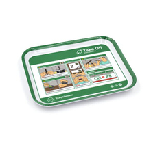 Food grade small size plastic melamine fast food serving tray for kids