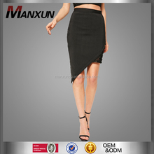 2017 Latest Style Black Premium Bandage Skirts Asymmetric Lace Up Side Midi Skirt Sexy Corporation A-line Pencil Ladies Dress