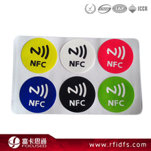 Rewritable Security Ntag215 RFID Sticker Mobile Phone NFC 13.56MHz Label