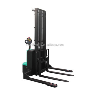 1Ton 2 Ton 1.5 Ton Top Quality warehouse Walkie Forklift Straddle Full Electric Pallet Powered Stacker in Alibaba