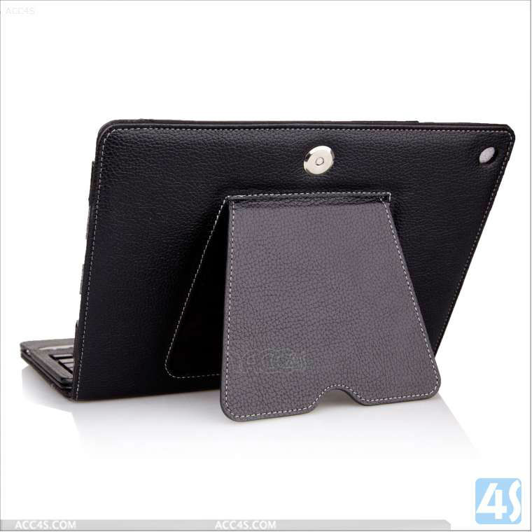 Bluetooth Keyboard Tablet Stand Leather Apple iPad 5 iPad Air Case P-IPD5CASE011