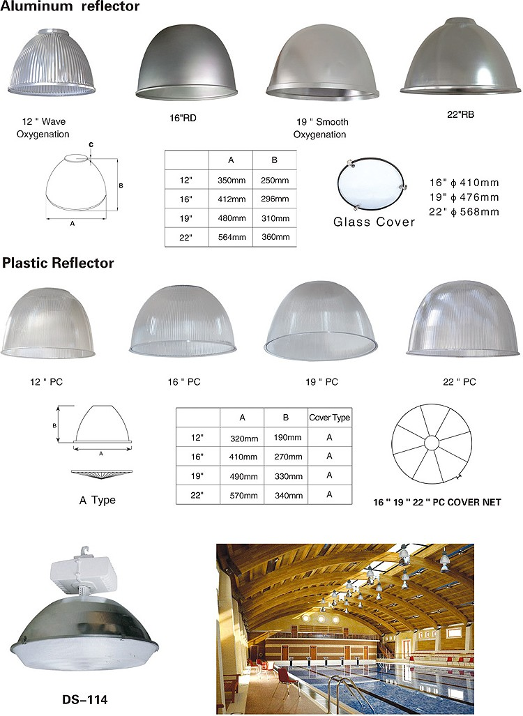 polycarbonate high bay light with plug and hook