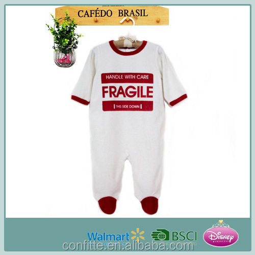 New born toddler clothing kid's new design clothes soft fleece baby footed romper