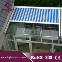 Retractable glass roof/garage awning/aluminum pergola