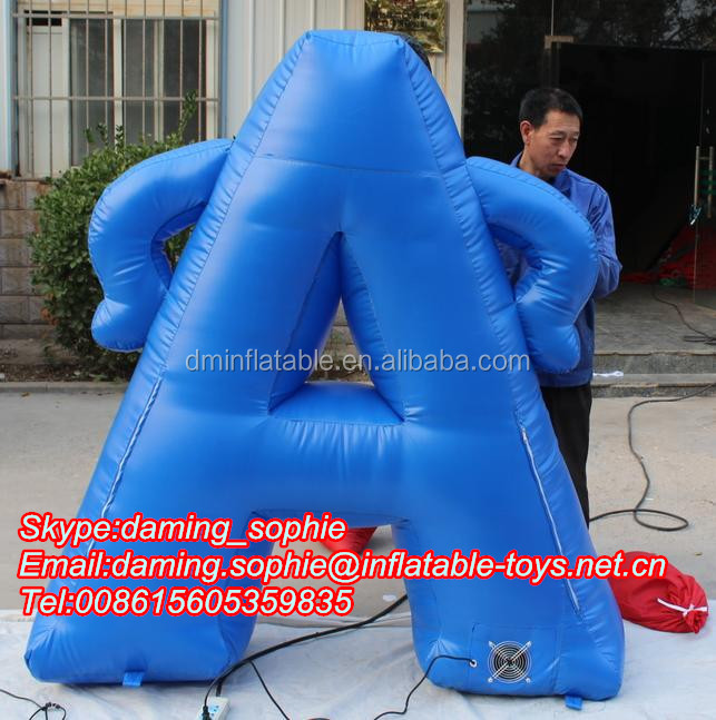 Inflatable Letters Cartoon Advertising With LED Light for Sale