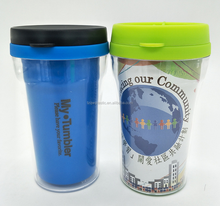 250ml Kids Double Wall Plastic Insulated Tumbler with photo insert
