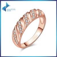 JYSZR0311 Cubic Zircon Rose Gold Plated Ring