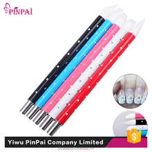PinPai brand nail tools personal care cheap 5pcs metal handle rhinestone nail art brush form China nail brush manufacturers