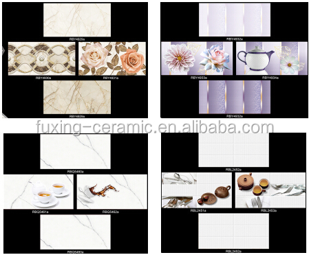 Pakistan design 250x400 3D digital inkjet kitchen ceramic wall tile