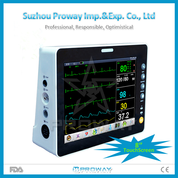 "8.4"" TFT LCD Screen Cardiac Multi-parameter Patient Monitor Price with 8 waveforms"