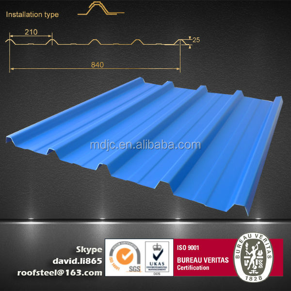 2014 china metal roof decrabond roofing system