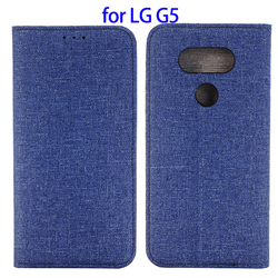 Jeans Style Magnetic Flip Leather Case for LG G5, Wallet Cover for LG G5 wholesale