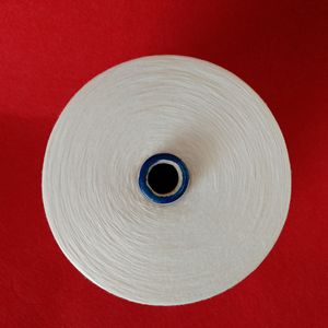 Wholesale 30s raw white spun 100% polyester virgin yarn for knitting