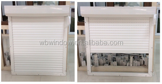 pvc window with roller shutter,residential window louvers
