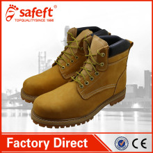 Nubuck leather work oem camel workman goodyear welt safety shoes/western boots/company