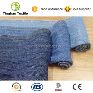 Herringbone cotton spandex knit denim jeans fabric supplier