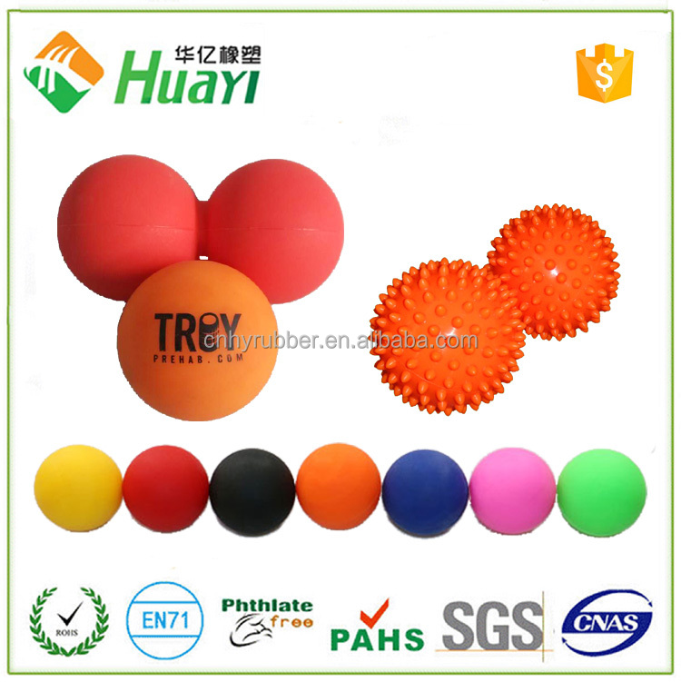 Silicone Massage crossfit rehab physio therapy Single & Double peanut lacrosse massage ball