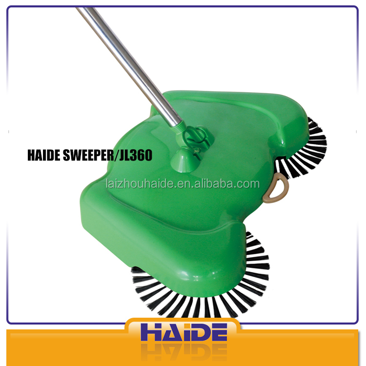 manual floor sweeper rolling brush cleaning equipment