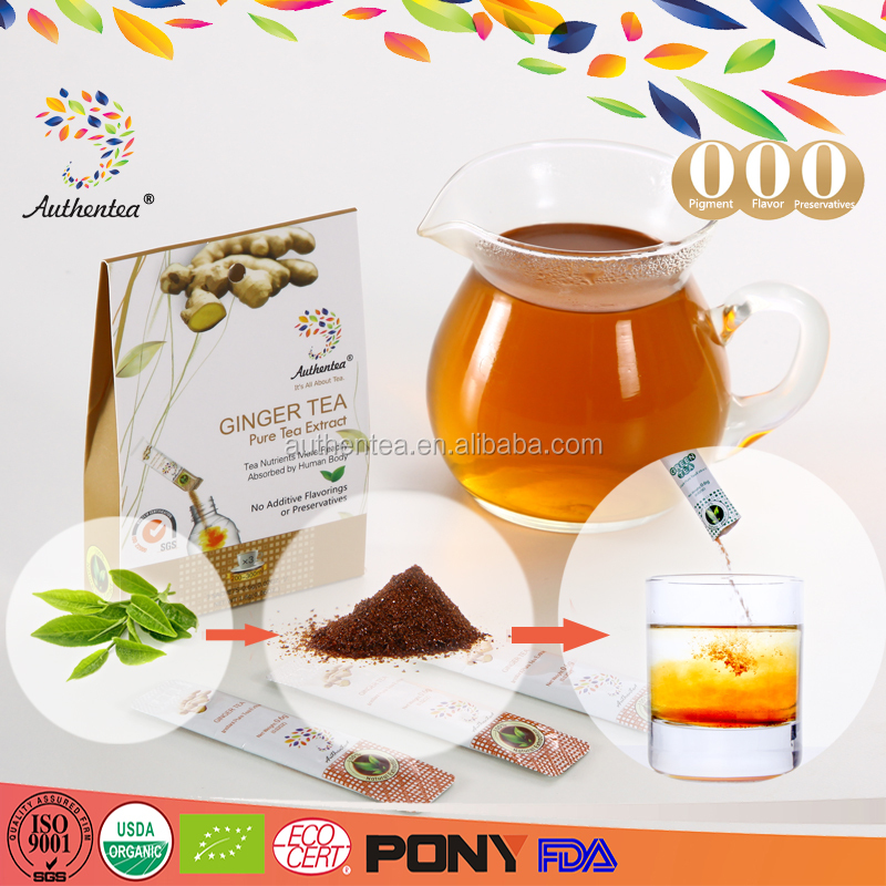 100% Pure Instant Ginger Tea Extract for Convenient Consume