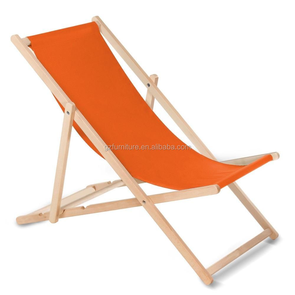 folding wooden arms beach chair
