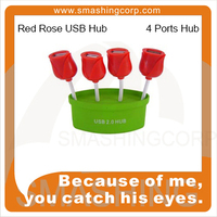 Tulip 4-port USB Hub, Quality Product Flowers Rose Man USB Hub weirdland