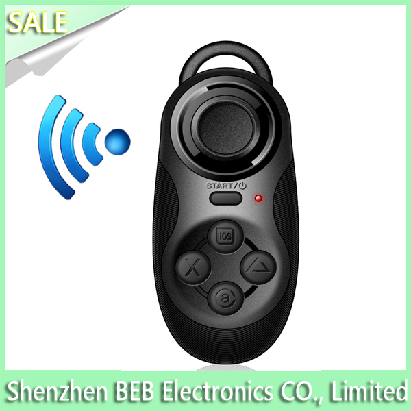 Made in china multifunction Mini wireless bluetooth gamepad,remote self timer&mini