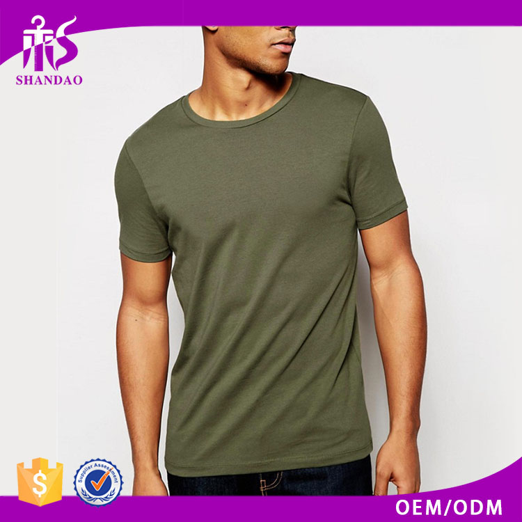 2016 Hot Sale Guangzhou Manufacturing High Quality 160g Organic Cotton Short Sleeve O-Neck Casual Fashion T Shirt