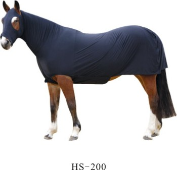 Full body fly sheet black lycra horse fly sheet