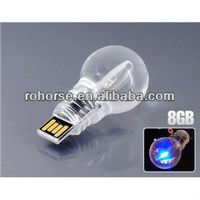8GB Blue Light LED Bulb USB Flash Drive Key Ring,truck shape usb flash drives
