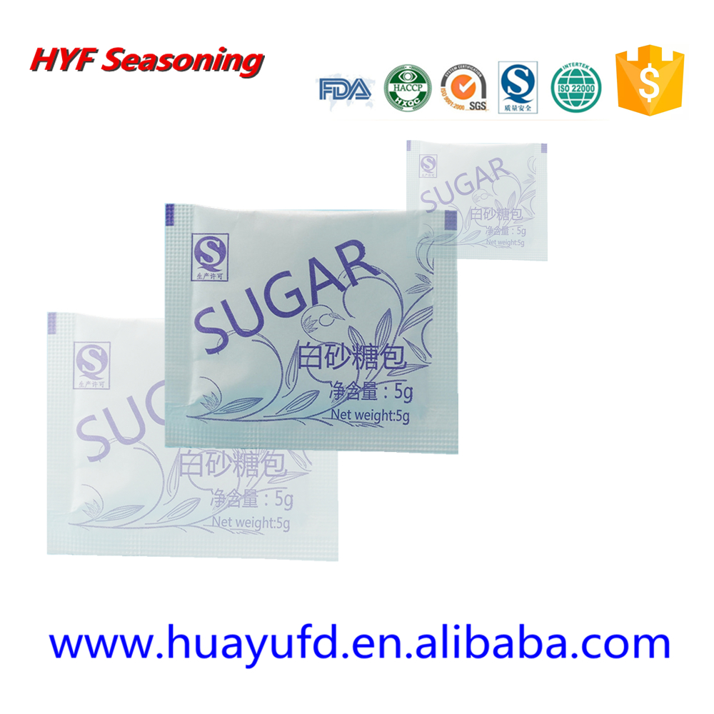 5g refined white sugar sachet for airline use /sugar for coffee