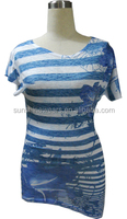 Good quality garment all over sublimation printing t-shirt