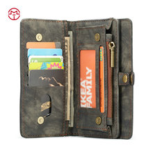Luxury Magnetic Flip Cover Stand Wallet Genuine Leather Cell Phone Case For Apple iPhone6 Plus