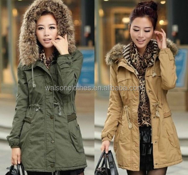 Fashion Lady Women's Warm Winter Overcoat Long Jacket Coat Outwear Hooded Parka walson