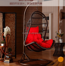 TF-W0022 Rattan Hanging Chair Garden Patio Swing Seat Comfortable Cushion Relax Egg Chair