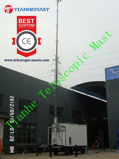 18m cellular tower for mobile communication aerial antenna telescopic mast