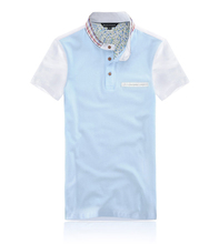 Mens Soft Handfeel Two Color Pima Cotton Polo Shirt