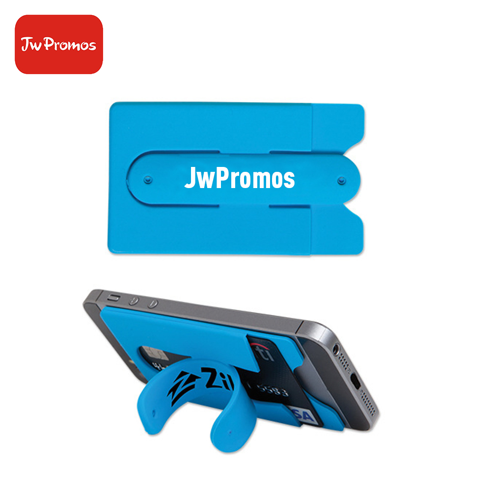 Mobile Phone Stand Promotional Gift Silicone card Holder with Silk Print Custom Logo