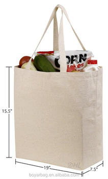 OEM cotton grocery promotional personalized thick canvas tote bag