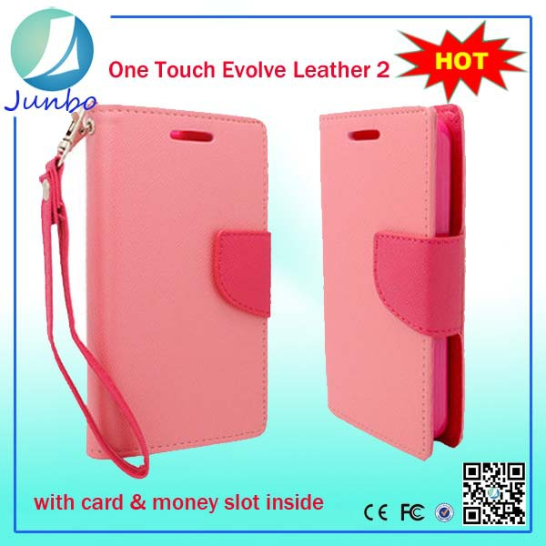 Smart Stylish Cell Phone Wallet Flip Leather Case For LG e400 Optimus L3