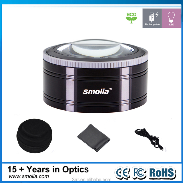 Dome LED magnifying glass