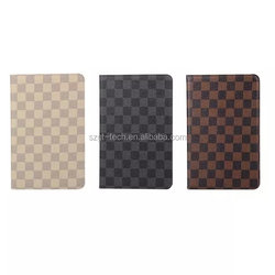 Fashion Grid Design PU Leather Case Cover Stand for Apple iPad Pro