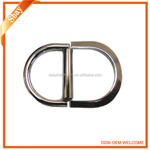 Fashion double d ring metal bag strap accessories