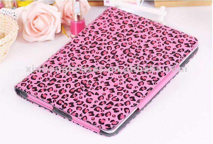 fashion leopard point cover for IPad 4