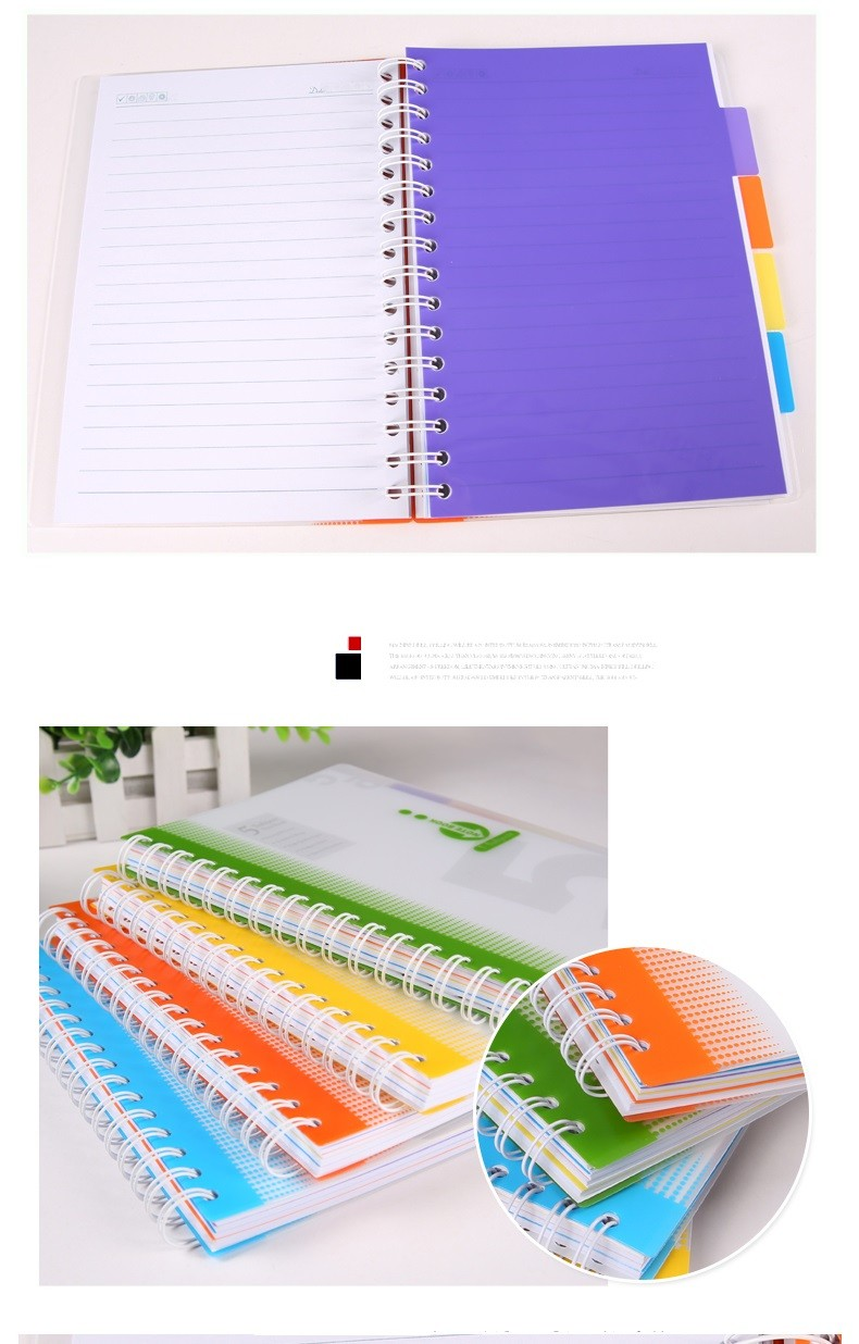 Fashion cheap price PP cover spiral notebook
