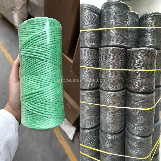 pp knitted rope agriculture binder twine dyed jute twine