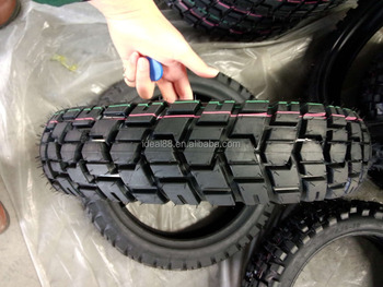 tubeless motorcycle tire 110/90-16 with off-road pattern